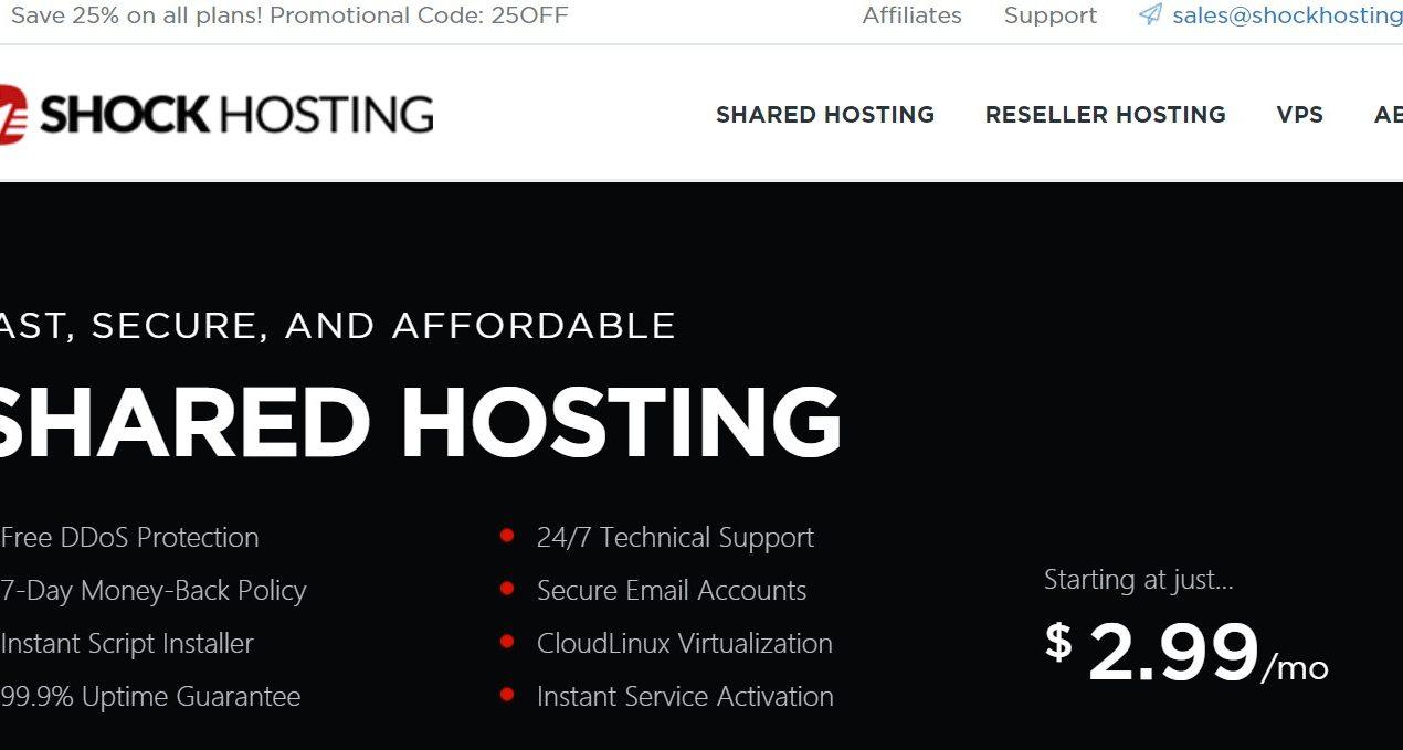 Shock Hosting:洛杉矶虚拟主机,独立IP、不限空间、不限流量